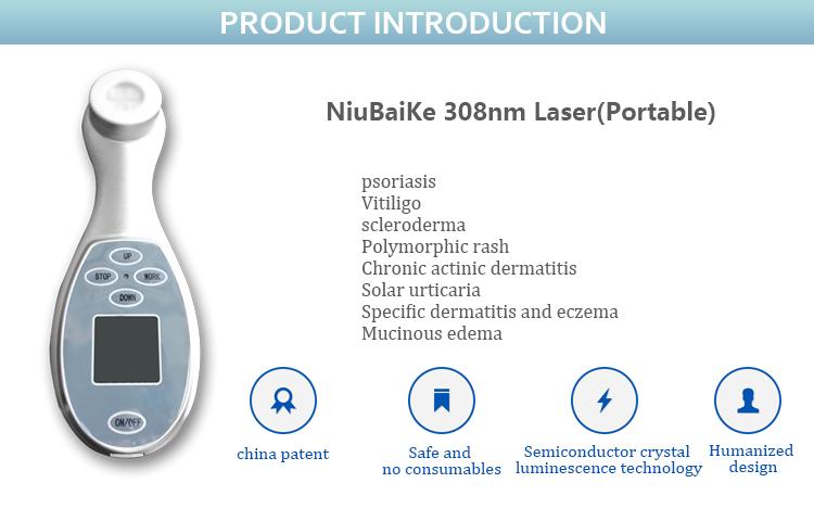 introducción del láser 308nm de mano